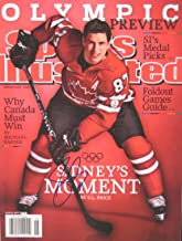 Sidney Crosby PITTSBURGH PENGUINS autographed Sports Illustrated magazine 2/8/10