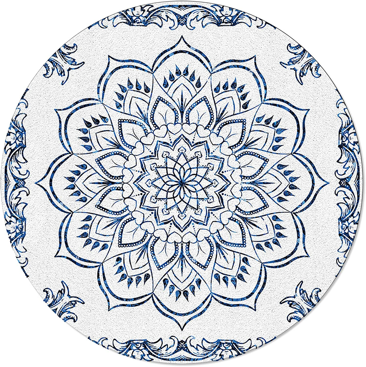 MAIANNE Non-Slip Round Area Rugs Recommendation Soft Backing Floral Rubber Dealing full price reduction with