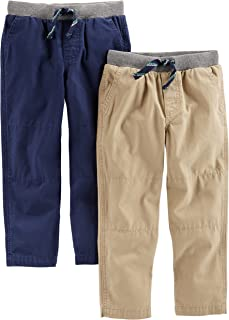Simple Joys by Carter's Bébé garçon Pantalon En Coton, Lot de 2