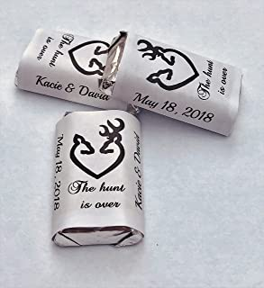 180 The hunt is over Wedding Party Wrappers/Stickers/labels for your Hershey Miniatures (Personalized Favors) Work for any party/event