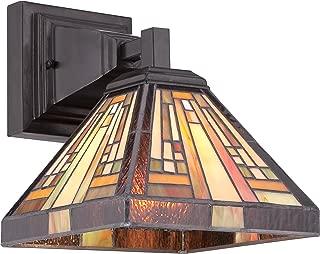 Quoizel TFST8701VB Stephen Tiffany Wall Sconce Lighting, 1-Light, 100 Watt, Vintage Bronze (10
