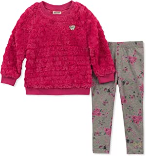 Juicy Couture Baby Girls' 2 Pieces Tunic Legging Set-Faux Fur