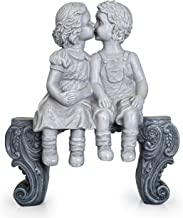 Boy & Girl Kissing Garden Statue (Large) Decorative Yard and Lawn Decoration | Heavy-Duty, Weather-Resistant Ceramic | Inspiring Love and Romance Decor 15