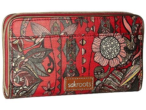 Factory Sale Buy Cheap Best Sakroots Artist Circle Large Zip Around Wallet Crimson Spirit Desert Cheap How Much PUqV6