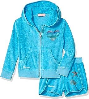 Butter Girls' Toddler Fleece Zip Hoodie and Short Set