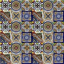 Piastrelle 10x10 Colorate.Amazon It Piastrelle Decorate Casa E Cucina