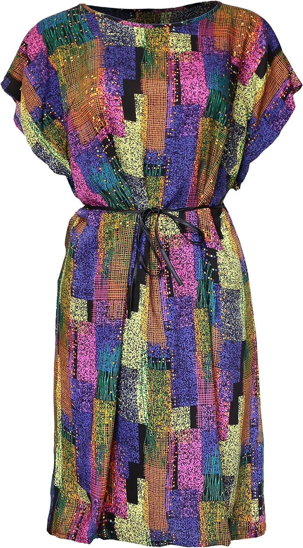 KMystic Women's Cotton Summer Vintage, African, Flower Tunic Dress