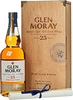 Glen Moray 25 Years Old Port Cask Finish Rare Vintage Limited Edition in Holzkiste 1 x 0.7 l