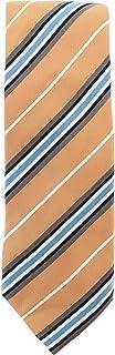 Bugatchi Men's Designer Striped Tie Orange