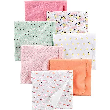 Simple Joys by Carter's Paquete de 7 Mantas de Franela para recepción Bebé-Niñas, Pack de 7