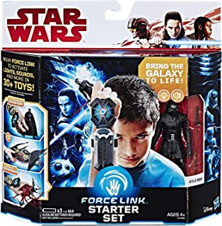 Star Wars Force Link Starter Set Including Force Link-Wear Force Link to Activate Lights Sounds and More in 30+ Toys (Motion Activated, Activate Every Force Link Figure & Lights & Sounds) New