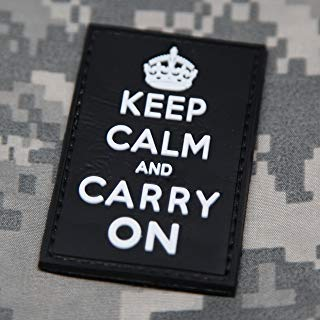 NEO Tactical Gear Keep Calm and Carry On Morale Patch - Black