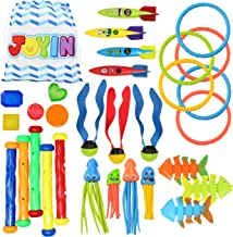 30 Pcs Diving Pool Toys Jumbo Set with Storage Bag Includes (5) Diving Sticks, (6) Diving Rings, (5) Pirate Treasures, (4) Toypedo Bandits, (3) Diving Toy Balls, (3) Fish Toys, (4) Stringy Octopus