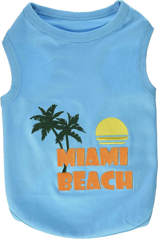 Parisian Pet Miami Beach Dog TShirt, XLarge