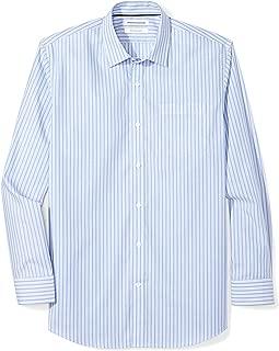 Men's Regular-Fit Wrinkle-Resistant Long-Sleeve Stripe Dress Shirt