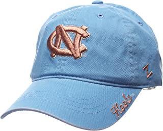 Zephyr NCAA North Carolina Tar Heels Women's Versailles Cap, Light Blue, Adjustable