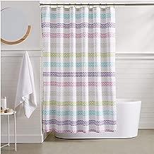 AmazonBasics Pastel Striped Shower Curtain