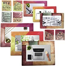 Sheen Work/Office - Magnetic Picture Frames and Refrigerator Magnets (12 Piece) with Inspirational Quotes Photo Collage - Gift for Work Office Coworker Colleague Graduate