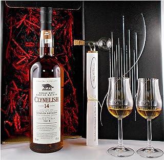 Geschenk Clynelish 14 Jahre Single Malt Whisky  Glaskugelportionierer 2 Bugatti Gläser