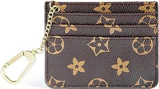 Womens Credit Card Holder Mini Wallet Key Chain pouch - Edmen