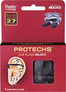 Flents Protechs Music Ear Plugs/Earplugs | 1 Pair | Case included | NRR 27 | Made in The USA