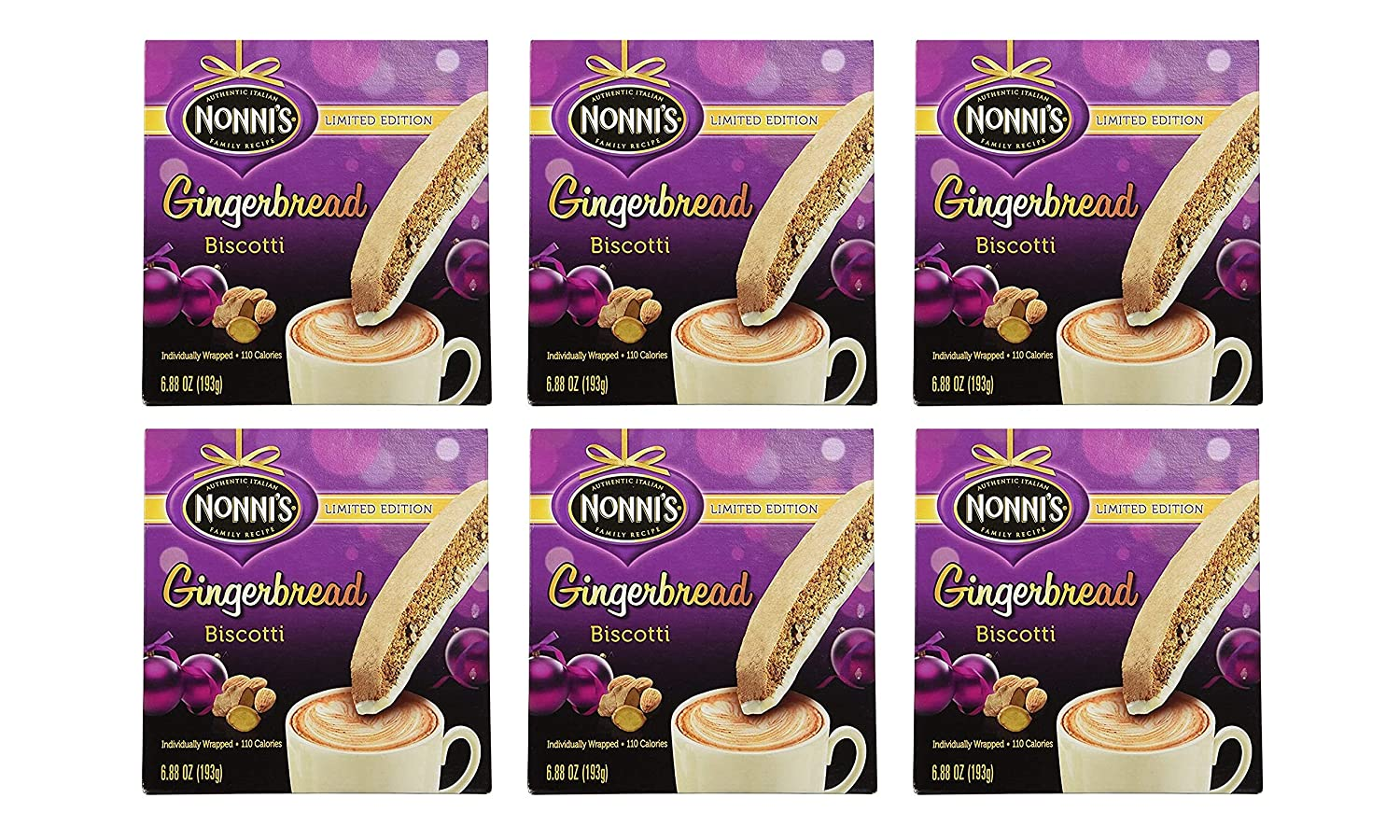 Nonni's Authentic Italian Gingerbread Biscotti Translated Total Pack 2021 autumn and winter new 6 of