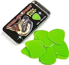 D'Andrea Snarling Dog Brain Nylon Guitar Picks 12 Pack with Tin Box (Green, 0.53mm)