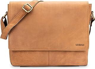 LEABAGS Gant Umhängetasche aus echtem Büffel-Leder im Vintage Look - Braun