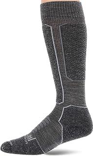 Merino Ski+ Mediano OTC Calcetines para hombre, Esquí para hombre (talla M), Hombre, color Gritstone HTHR/Negro, tamaño medium