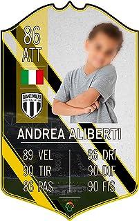 Adesivo Murale - Card Personalizzata FUT Player - Bianconeri - Plug Calcio Soccer Cameretta Idea Regalo Squadra del Cuore ...