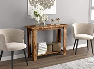 Safdie 81090.Z.07 Entryway Table/Console Table/Sofa Couch Table/Accent Wall Table-39 Long/Brown Reclaimed Wood with 1 Shelf for Living Room