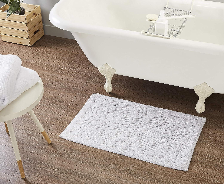 Tahari Home | Arthur Collection | Modern Luxury Non Slip Absorbent Rug, Plush Bath Mat for Tub, Shower and Bathroom, Machine Washable, 20