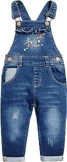 Kidscool Space Grils Little Pearl & Stitch Design Cotton Denim Overalls