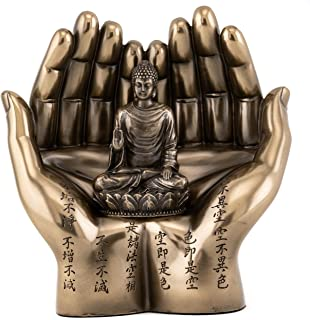 Top Collection Shakyamuni on Palm Statue - The Enlightened One Sculpture in Premium Cold Cast Bronze- 5.75-Inch Collectible Supreme Buddha Figurine