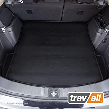 Connected Essentials Tailored Custom Fit Luxury Automotive Velour Carpet Boot Mat Boot Liner for Focus 2011 Onwards Black with Grey Trim