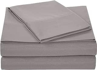 AmazonBasics Light-Weight Microfiber Sheet Set - Twin, Dark Grey