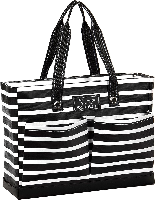 SCOUT Uptown Girl MultiPocket Tote Bag, Water Resistant, Zips Closed, Fleetwood Black