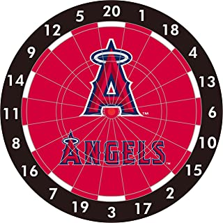 MLB Anaheim Angels 12-Inch Paper Dart Board With Darts