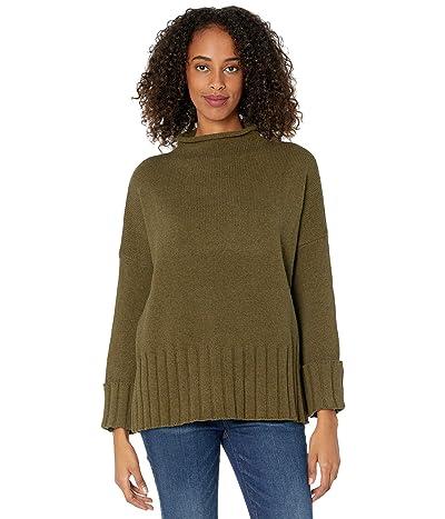 Madewell Glenmoor Mockneck Sweater in Cotton-Merino Yarn (Heather Elm) Women