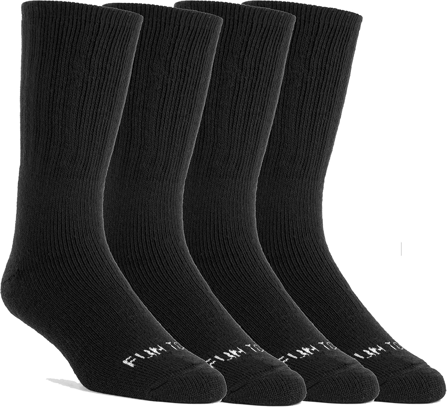 FUN TOES Women 60% Merino Wool Thermal Solid Color Socks 4 Pirs Ultra Warm and Cozy Arch Support and Cushioning