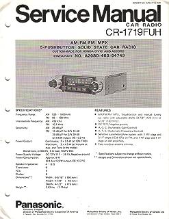 Panasonic CR 1719FUH 1977 HONDA Accord Civic AM FM MPX Radio, Service Manual Instructions