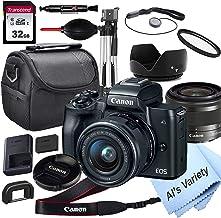 Canon EOS M50 Cámara digital sin espejo con lente de 0.591-1.772 in + tarjeta de 32 GB, trípode, funda y más (paquete de 18 piezas)