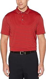 Sponsored Ad - PGA TOUR Men's Standard Short Sleeve Feeder Stripe Polo Shirt