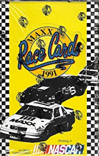 1991 Maxx Race Cards Factory Sealed Box Of 36 Packs Printing II