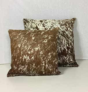 Best Gaucho Cowhides Snowie Brown & White Genuine Cowhide Pillow Cover - 16x16 Inches or 20x20 Inches (16x16) Review