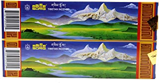 Handmade Tibetan Incense 80 Sticks (2 Boxes of 40 Sticks Each) By Men-Tsee-Khang