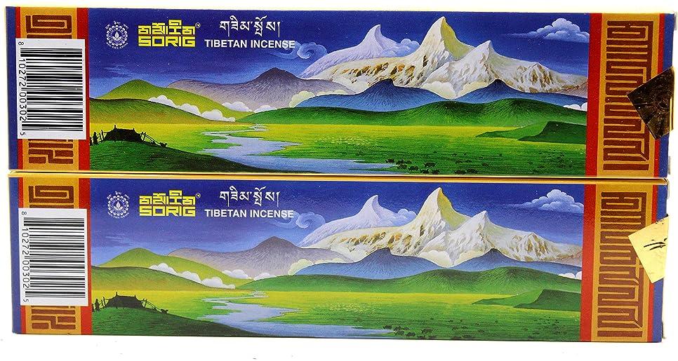 どんよりしたワーカースーツケースハンドメイドチベット香80?Sticks ( 2?Boxes of 40?Sticks各) by men-tsee-khang