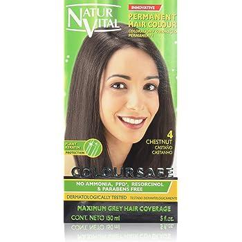 Permanent Hair Dye, Permanent Hair Color . Coloursafe, No Ammonia,Resorcinol,Parabens, or PDD. (~4 Chestnut Hair)