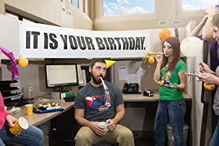 It is Your Birthday Banner The Office - Banner from The Office Birthday Decorations - Vinyl Birthday Banner Party Decoration 15 x 72 inch