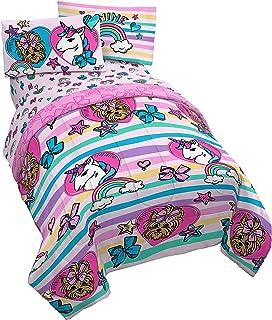 Jay Franco Nickelodeon JoJo Siwa Unicorn Shine 5 Piece Full Bed Set – Includes..
